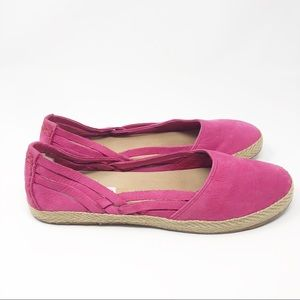 UGG | Cecily pink espadrille suede flats - 9